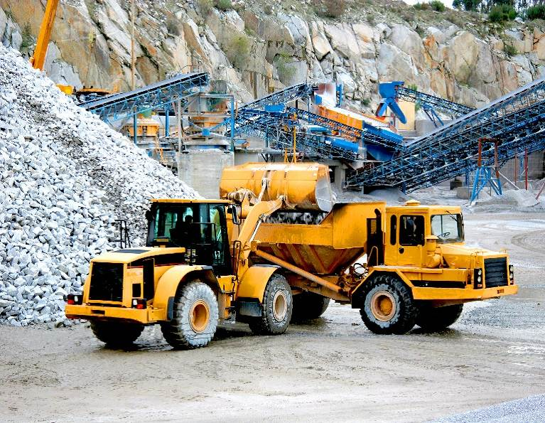 Machines mining representing industrial adhesives for the mining industry.